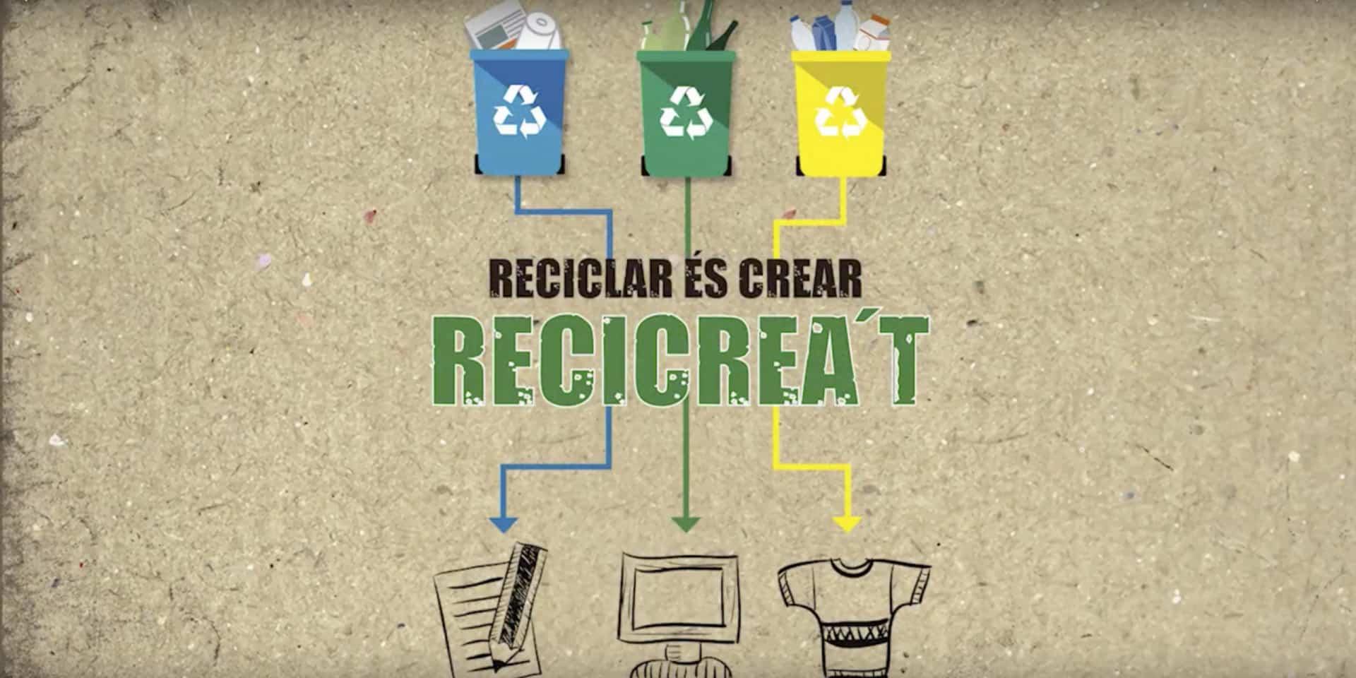"""La productora audiovisual d'Alacant Producciones GDP va ser l'encarregada de dur a terme la campanya de reciclatge """"Reciclar és crear. Recicrea't!""""."""