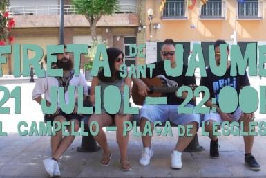 La productora audiovisual d'Alacant Producciones GDP va portar a terme, com cada any, el spot promocional de la Fireta de Sant Jaume del Campello.